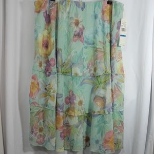 Alfred Dunner Roman holiday XL Midi Skirt NWT